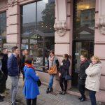 Księgarnia Ossolineum w Łodzi - na zewnątrz